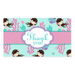 Little Mermaid TY Gift Tag M Brunette Business Cards