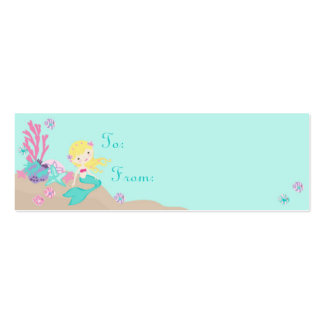Little Mermaid TY Gift Tag S Blonde Business Card Template