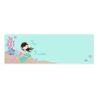 Little Mermaid TY Gift Tag S Brunette Mini Business Card