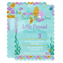 Little mermaid invitations announcements zazzle filmwisefo Images