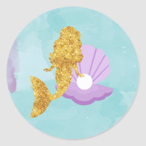 Little Mermaid Under the Sea Party Favor Stickers