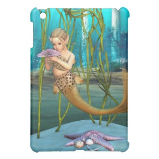Little Mermaid with Anemone Flower iPad Mini Case