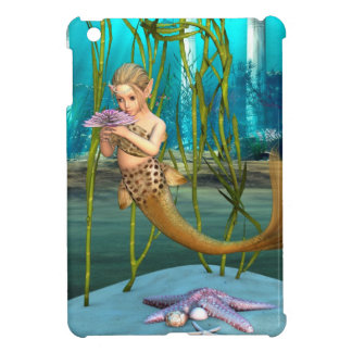 Little Mermaid with Anemone Flower iPad Mini Cases