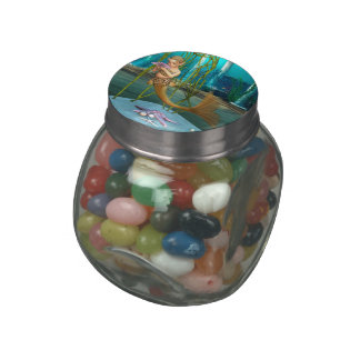 Little Mermaid with Anemone Flower Jelly Belly Candy Jar