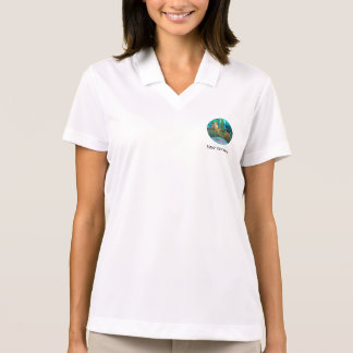 Little Mermaid with Anemone Flower Polo Shirt