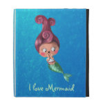 Little Mermaid with Dark Pink Hair iPad Folio Cases