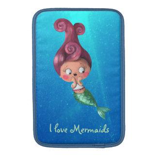 Little Mermaid with Dark Pink Hair MacBook Sleeve