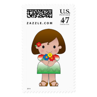Little Mexican Girl Postage