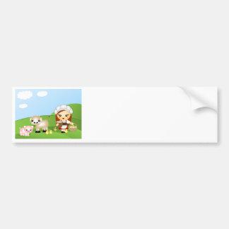 Little Milk Maid and friends Bumper Sticker
