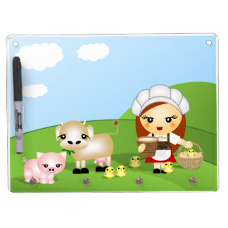 Little Milk Maid and friends Dry Erase Boards