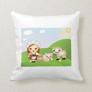 Little Milk Maid and friends Pillows