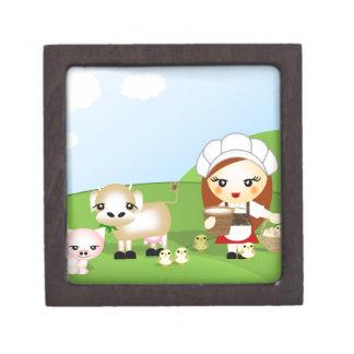 Little Milk Maid and friends Premium Keepsake Box