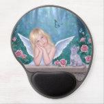 Little Miracles Angel and Kitten Art Gel Mousepad