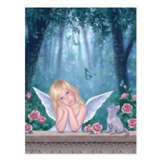 Little Miracles Angel Art Postcard