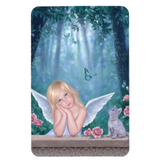 Little Miracles Angel & Kitten Flexible Magnet