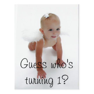 Little Miss Angel, Guess who's turning 1? Postcard