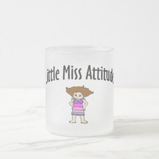 Little Miss Attitude Frosted Glass Coffee Mug