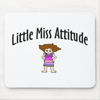 Little Miss Attitude Mouse Pads