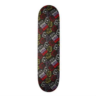 Little Miss Bad | Black, Red & Yellow Pattern Skateboard