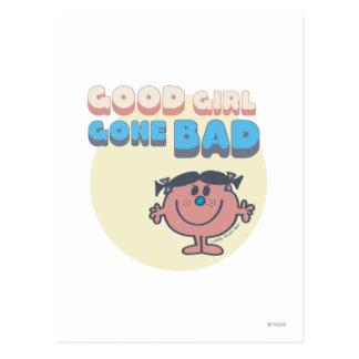 Little Miss Bad | Good Girl Gone Bad Postcard