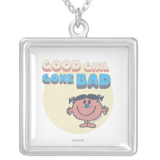 Little Miss Bad | Good Girl Gone Bad Square Pendant Necklace