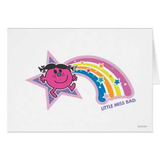 Little Miss Bad & Rainbow Card