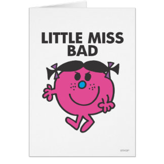 Little Miss Bad   Ready For Action Card