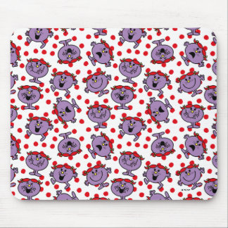 Little Miss Bad | Red Polka Dot Pattern Mouse Pad