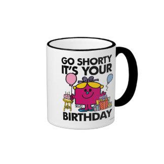 Little Miss Birthday | Go Shorty Version 16 Ringer Mug