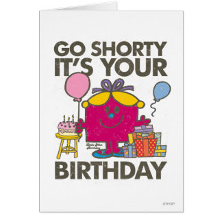 Little Miss Birthday | Go Shorty Version 2 Card