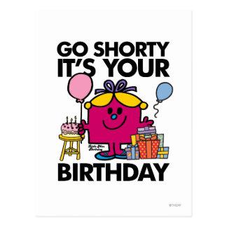 Little Miss Birthday | Go Shorty Version 34 Postcard