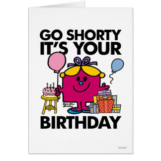 Little Miss Birthday | Go Shorty Version 3 Card