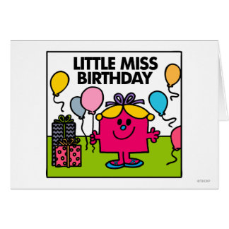 Little Miss Birthday | Presents & Balloons Greeting Card
