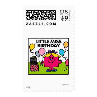 Little Miss Birthday | Presents & Balloons Postage Stamps