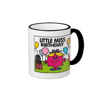 Little Miss Birthday | Presents & Balloons Ringer Mug