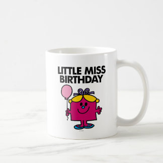 Little Miss Birthday With Pink Balloon Coffee Mug