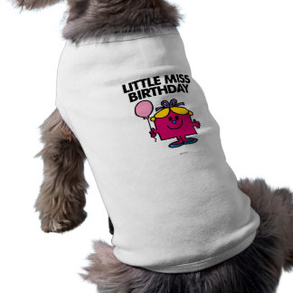 Little Miss Birthday With Pink Balloon Dog T Shirt