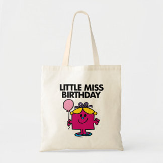Little Miss Birthday With Pink Balloon Tote Bag