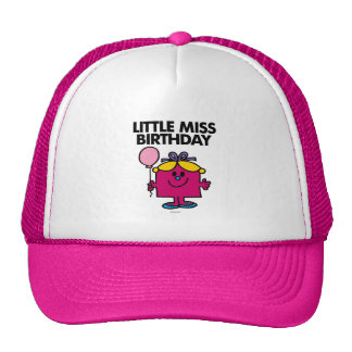 Little Miss Birthday With Pink Balloon Trucker Hat
