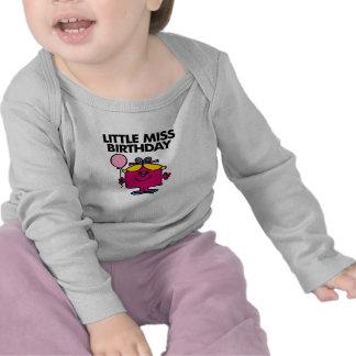 Little Miss Birthday With Pink Balloon Tee Shirts