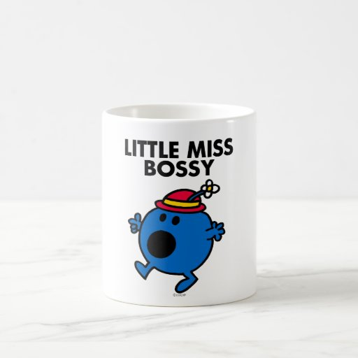 Little Miss Bossy | Black Lettering Classic White Coffee Mug
