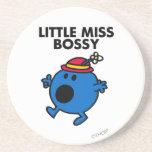Little Miss Bossy | Black Lettering Coasters