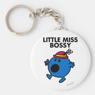 Little Miss Bossy | Black Lettering Keychain