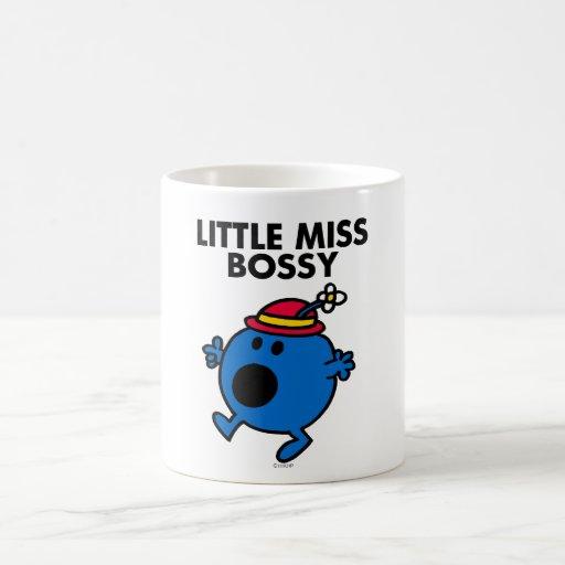 Little Miss Bossy | Black Lettering Basic White Mug