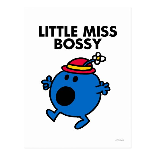 Little Miss Bossy | Black Lettering Postcard