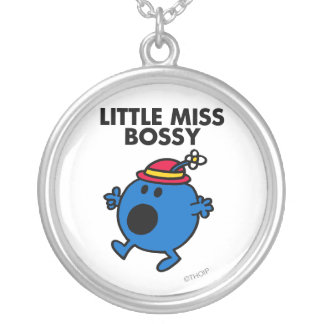 Little Miss Bossy | Black Lettering Silver Plated Necklace