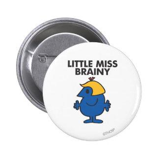 Little Miss Brainy Standing Still 2 Inch Round Button