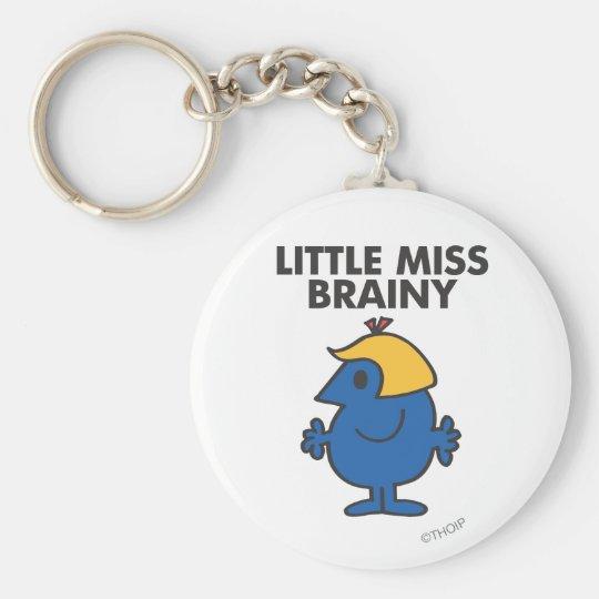 Little Miss Brainy Standing Still Keychain