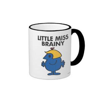 Little Miss Brainy Standing Still Ringer Mug