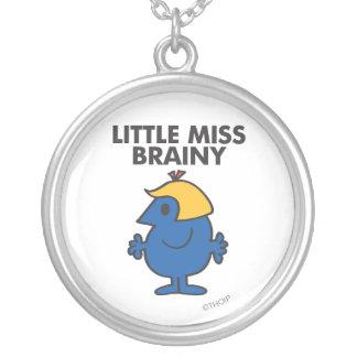 Little Miss Brainy Standing Still Round Pendant Necklace